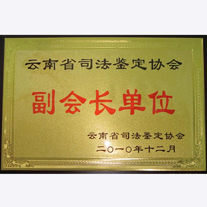 云南省司法鉴定协会副会长单位